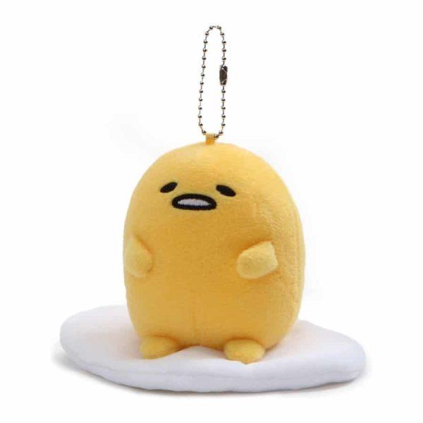 "GUND Gudetama ""Lazy Sitting Pose"" Stuffed Animal Plush Keychain"