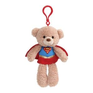 "Gund DC Universe Fuzzy Bear Supergirl Plush Backpack Clip, 6.5"""
