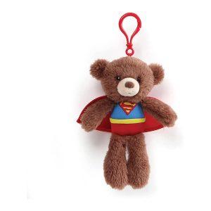 "GUND DC Universe Fuzzy Bear Superman Plush Backpack Clip, 6.5"""