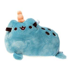 "GUND Pusheenimal Narwhal Plush Stuffed Animal Backpack Clip 5"", Blue"