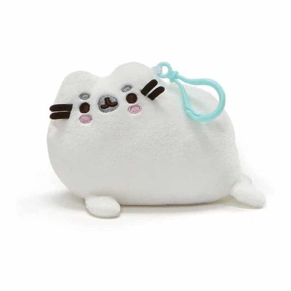 GUND Pusheen Pusheenimal Seal Plush Stuffed Animal Backpack Clip, White