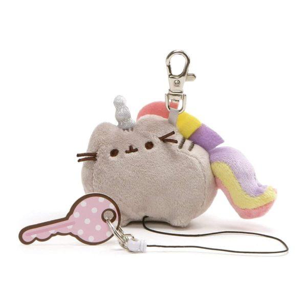 GUND Pusheen Pusheenicorn Retractable Key Holder Cat Unicorn Plush