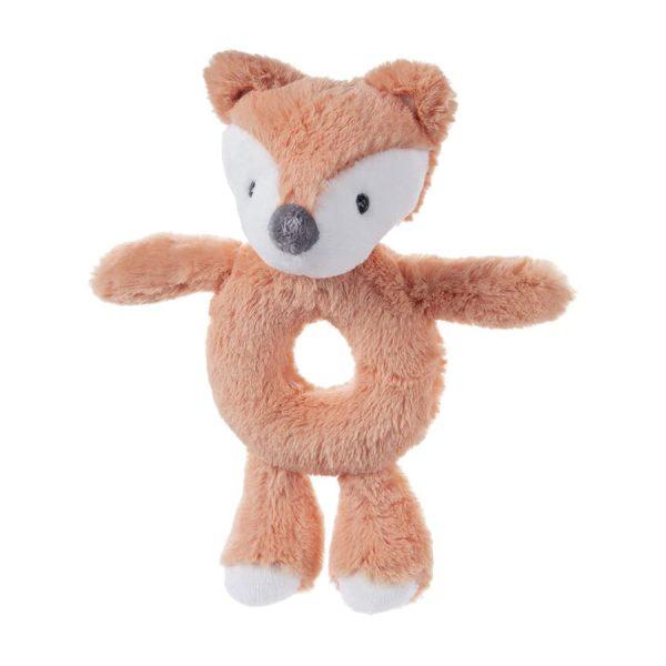 Baby GUND Baby Toothpick Emory Fox Rattle Plush Stuffed Animal, Orange