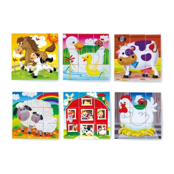 Playgo  Farmouse Block Puzzle ( 6 in 1)