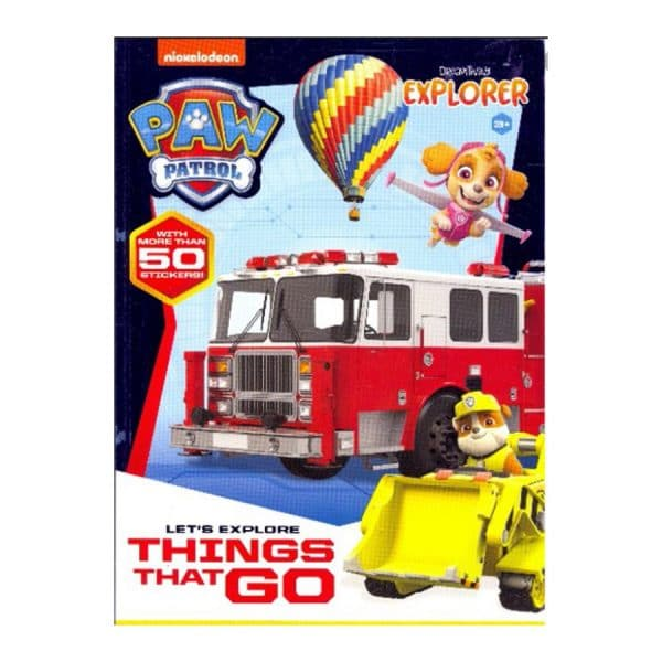 Paw Patrol Let's Explore Things That Go Softcover-Stickerbook