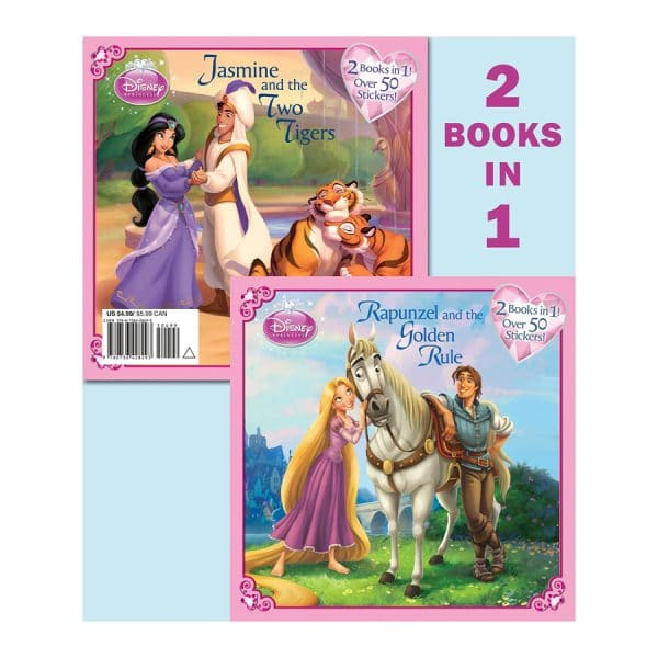 Rapunzel and the Golden Rule/Jasmine and the Two Tigers (Disney Princess) Softcover-Paperback