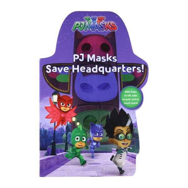 PJ Masks Save Headquarters! Board book – Lift the flap