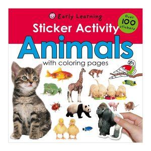 Sticker Activity Animals Paperback – Sticker Book