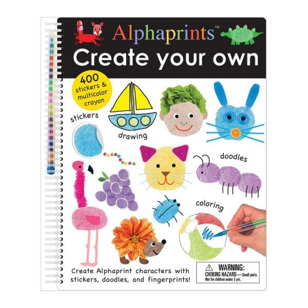 Alphaprints: Create Your Own: A sticker and doodle activity book Spiral