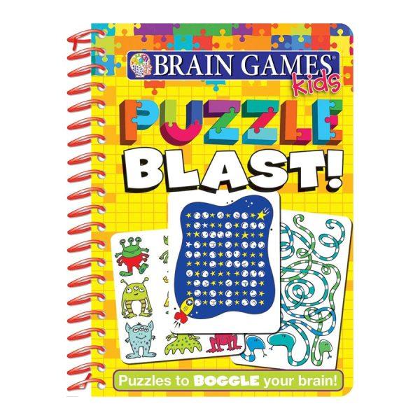 Brain Games Kids - Puzzle Blast! - Pi Kids Softcover Spiral-bound