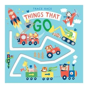 Trace Race: Things that Go Board book