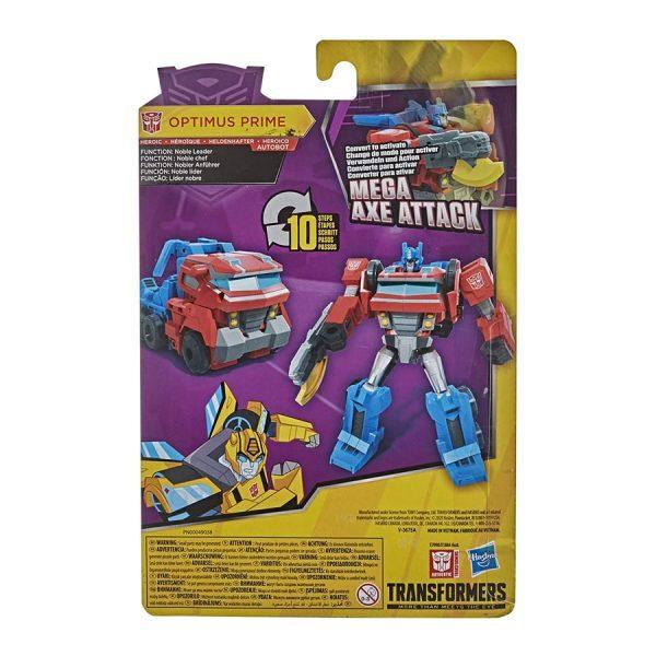 Transformers Bumblebee Cyberverse Adventures Warrior Class Mega Axe Attack Optimus Prime Action Figure