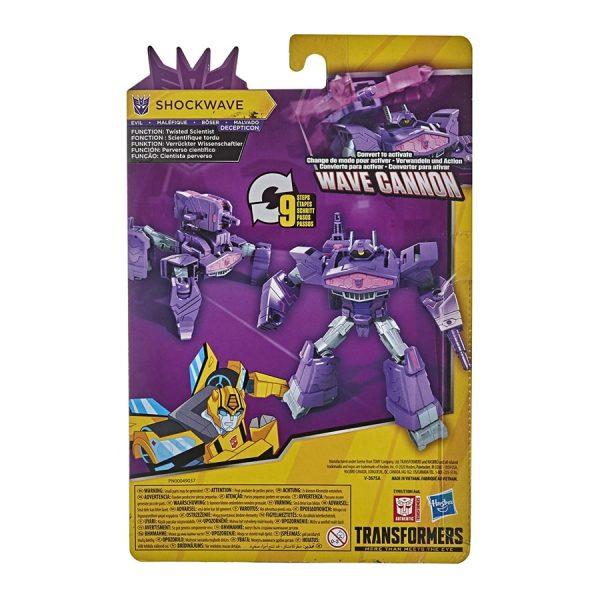 Transformers Bumblebee Cyberverse Adventures Warrior Class Wave Cannon Shockwave