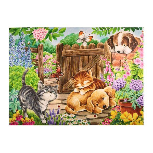 Puppies & Kittens Playdate 100 Piece Jigsaw Puzzle