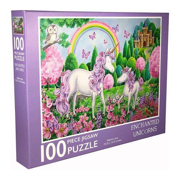 Enchanted Unicorns 100 Piece Jigsaw Puzzle