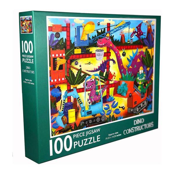 Dino Constructors 100 Piece Jigsaw Puzzle