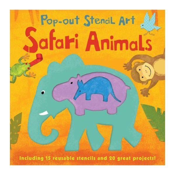 Safari Animals: Pop-Out Stencil Art Board book