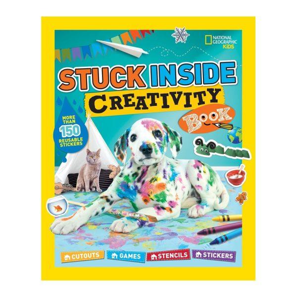 Stuck Inside Creativity Book: Cutouts, Games, Stencils, Stickers Paperback