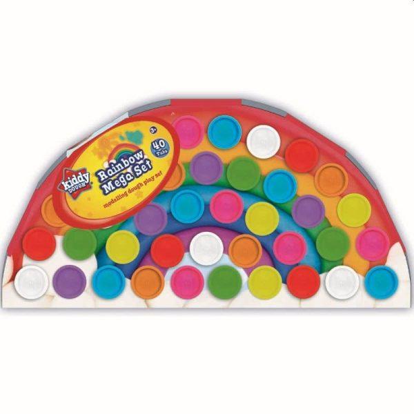 Kiddy Dough Rainbow Mega Set 40 Tubs