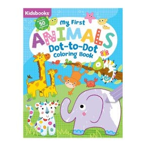 My First Animals Dot-to-Dot Coloring Book-Includes 50 Stickers Paperback