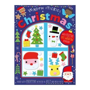 Christmas Window Stickies Activity Book Paperback