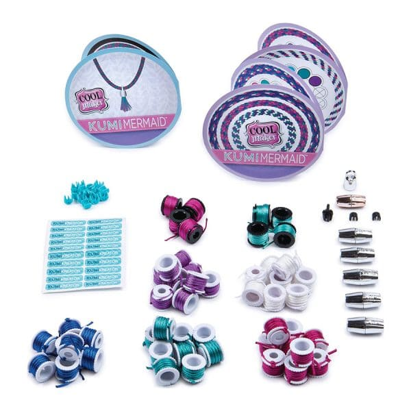 Cool Maker KumiKreator Mermaid Fashion REFILL Pack , Friendship Bracelet and Necklace Activity Kit