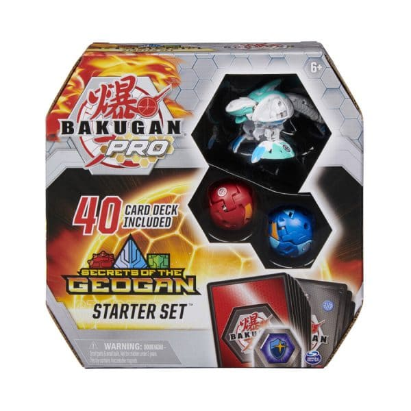 Bakugan Pro Secrets of the Geogan Starter Set with Sharktar Ultra