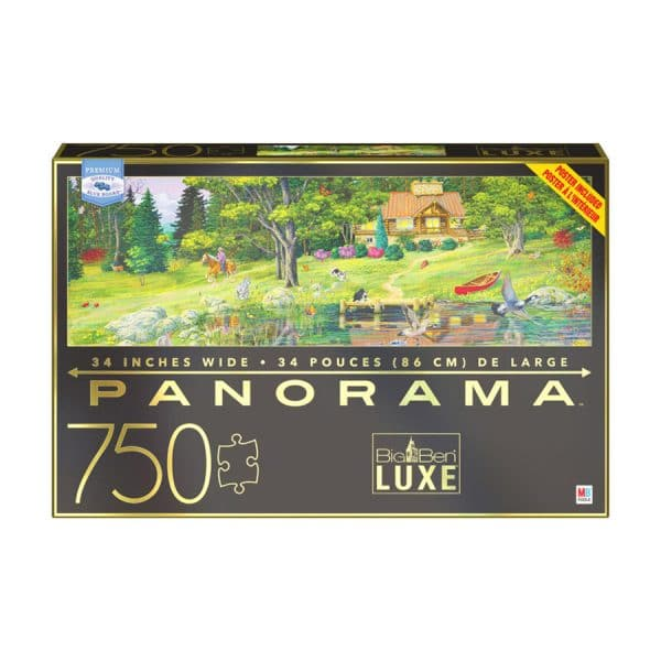 Big Ben Luxe 750 Piece Panorama Cabin on the Lake Jigsaw Puzzle