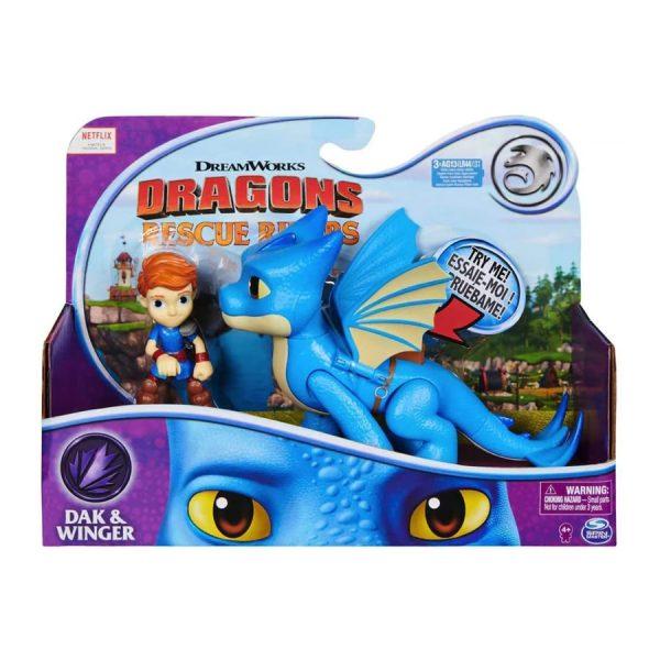 DreamWorks Dragons Rescue Riders Dak & Winger Figures
