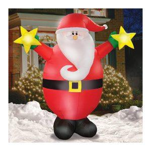 Airformz Starlight Santa Claus 7.5 Feet LED Jumbo Inflatable