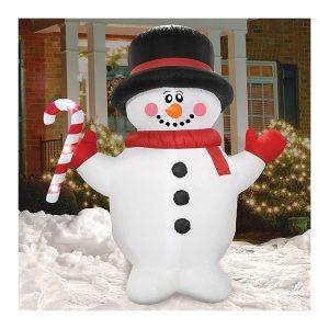 Airformz Candy Cane Snowman 7.5 Feet LED Jumbo Inflatable
