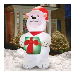 Airformz Cool Polar Bear 7.5 Feet LED Jumbo Inflatable