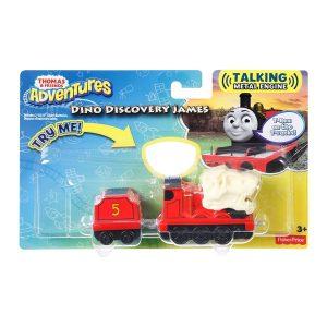 Thomas & Friends Adventures Dino Discovery James Talking Metal Engine